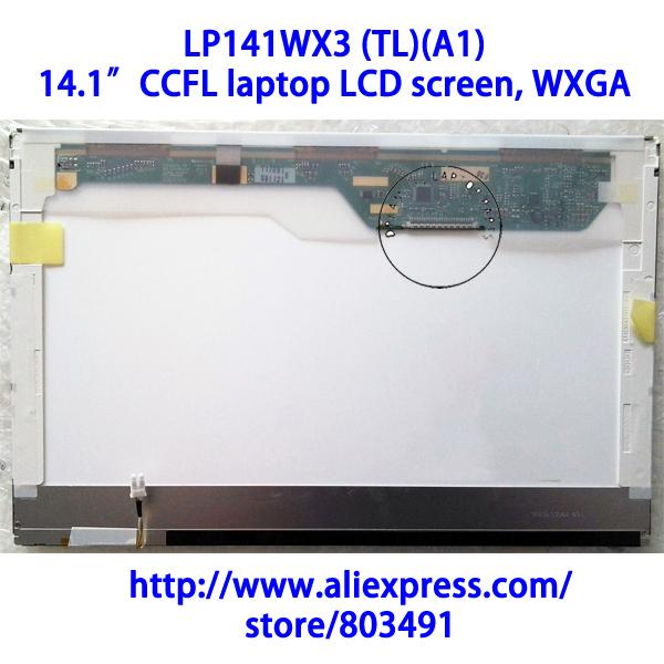 """LP141WX3 (TL)(A1), 14.1"""" laptop LCD screen, WXGA, CCFL backlight, 1280*800 pixels, LP141WX3-TLA1(China (Mainland))"""