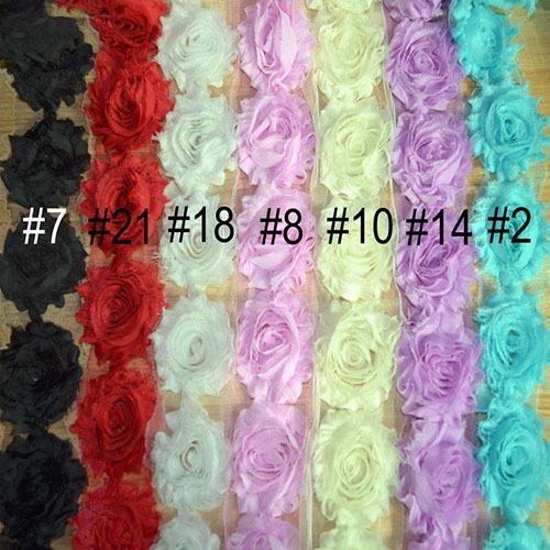 Гаджет  Shabby Chic Chiffon Flower Trim, Total 25 Colors 10 Yards 6CM Trim Chiffon Rose Flower, Rose Chiffon Lace Trimming None Дом и Сад
