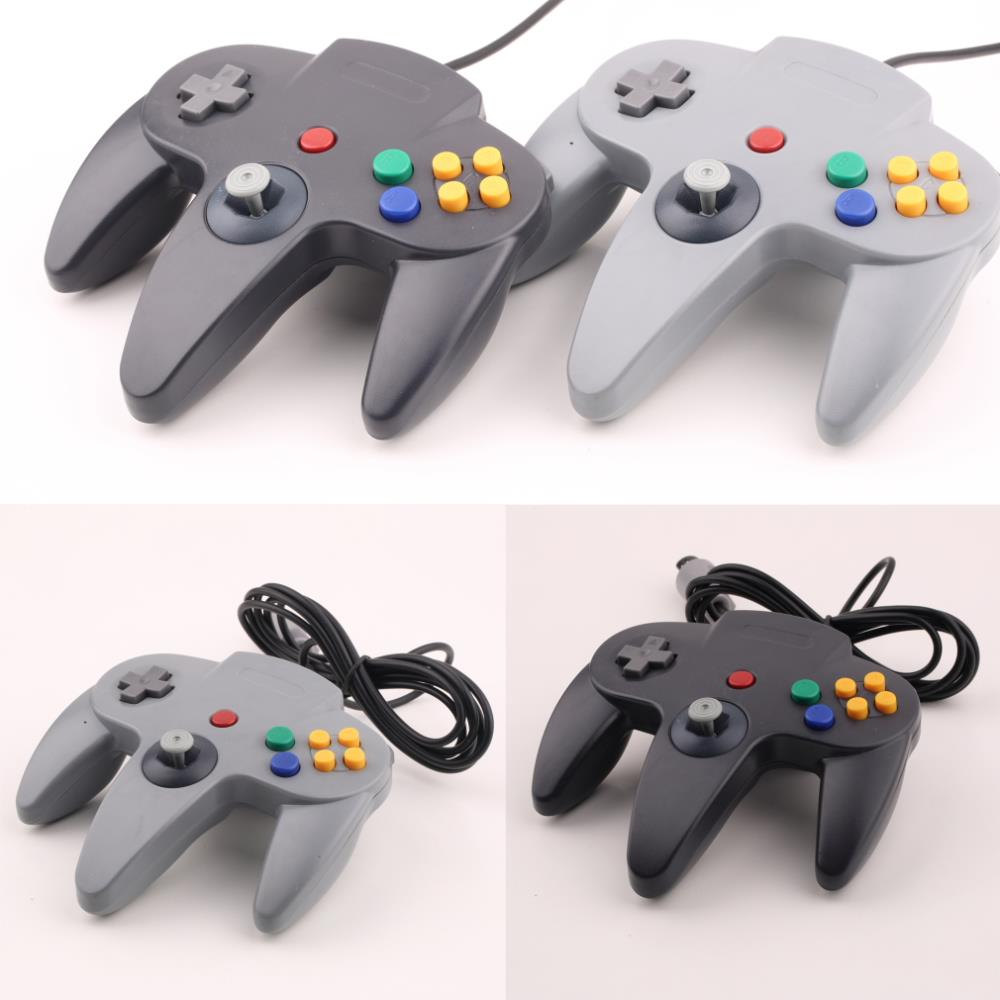 Long Handle Game Controller Pad Joystick for Nintendo 64 N64 System Black(China (Mainland))