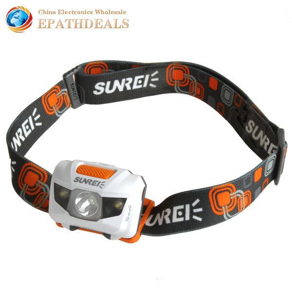 Sunree 1200Lm Bright Cree LED Headlamp Headlight Waterproof Handy Motile LED Head Light Lamp for Outdoor Cycling + AAA Battery(China (Mainland))