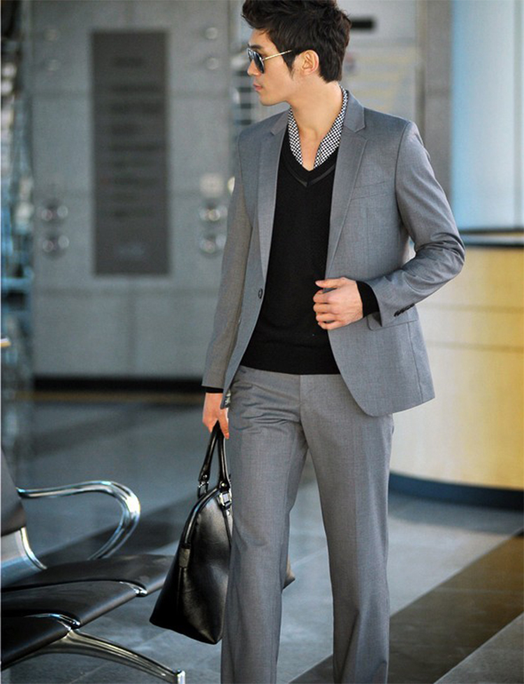 61-Free Shipping New 2015 man suit classic Fashion grooms man suits! Men's Blazer Business Slim Clothing Suit And Pants