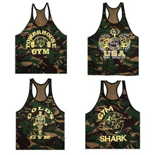 Brand Men Gym Camouflage Tank High Quality Cotton Breathable Bodybuilding Fitness Vest Training Exercise Workout Tops