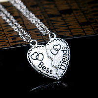 2015 Product Necklaces & Pendants Share With Your Friends New Style Fashion Broken Heart Parts 2 Best Friend