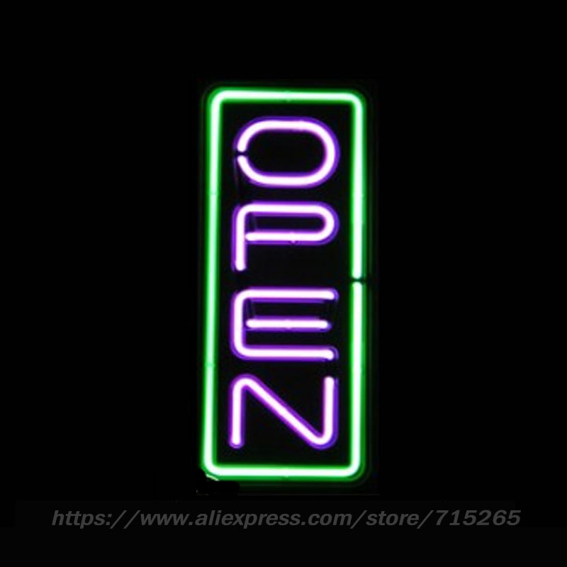 Neon Open Sign Beer Bar Pub Neon Light Signs cool sign Arcade handcrafted Real Glass Tube Neon Lamps Publicidad Neon Light 19x8(China (Mainland))