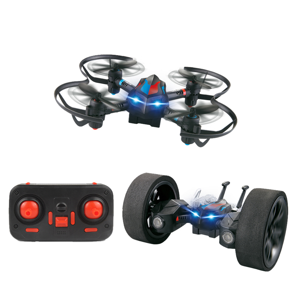 LiDiRc L18 2.4GHz 4CH wireless RC Gyro Drones Quadrotor DIY Deformable Stunt Car Toy with Remote Controller up to 50m(China (Mainland))