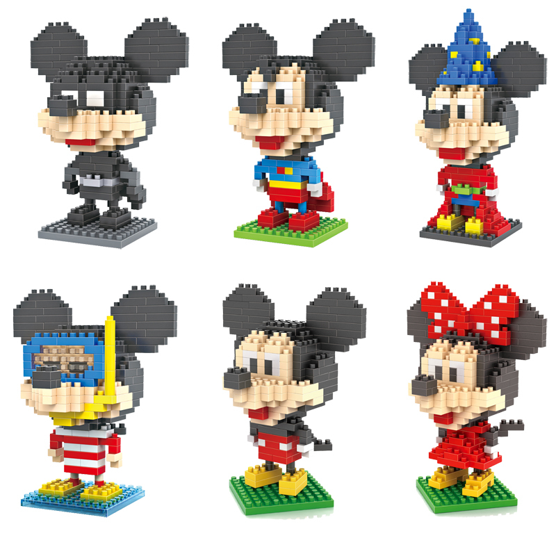 Гаджет  Building Blocks Superman Batman Magician Diver Captain America Mickey and Minnie Toys for Children Middle Size 9+ Gift None Игрушки и Хобби