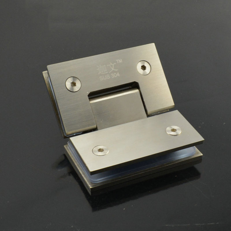 Angle 135 Solid stainless steel glass door hinge hinge for glass door of shower room glass door clip CP414(China (Mainland))