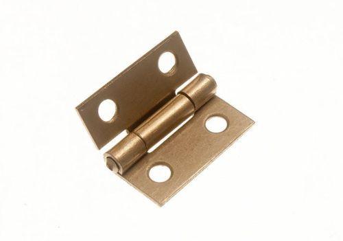 20 Pcs Mini Cabinet Drawer Butt Hinge copper gold small hinge 4 small hole 8*10 copper hinge With screws(China (Mainland))