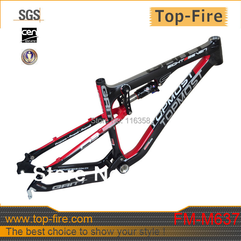 2015 Lowest price 26er full suspension mtb carbon fiber frame without rock shox for sale (In stock)(China (Mainland))