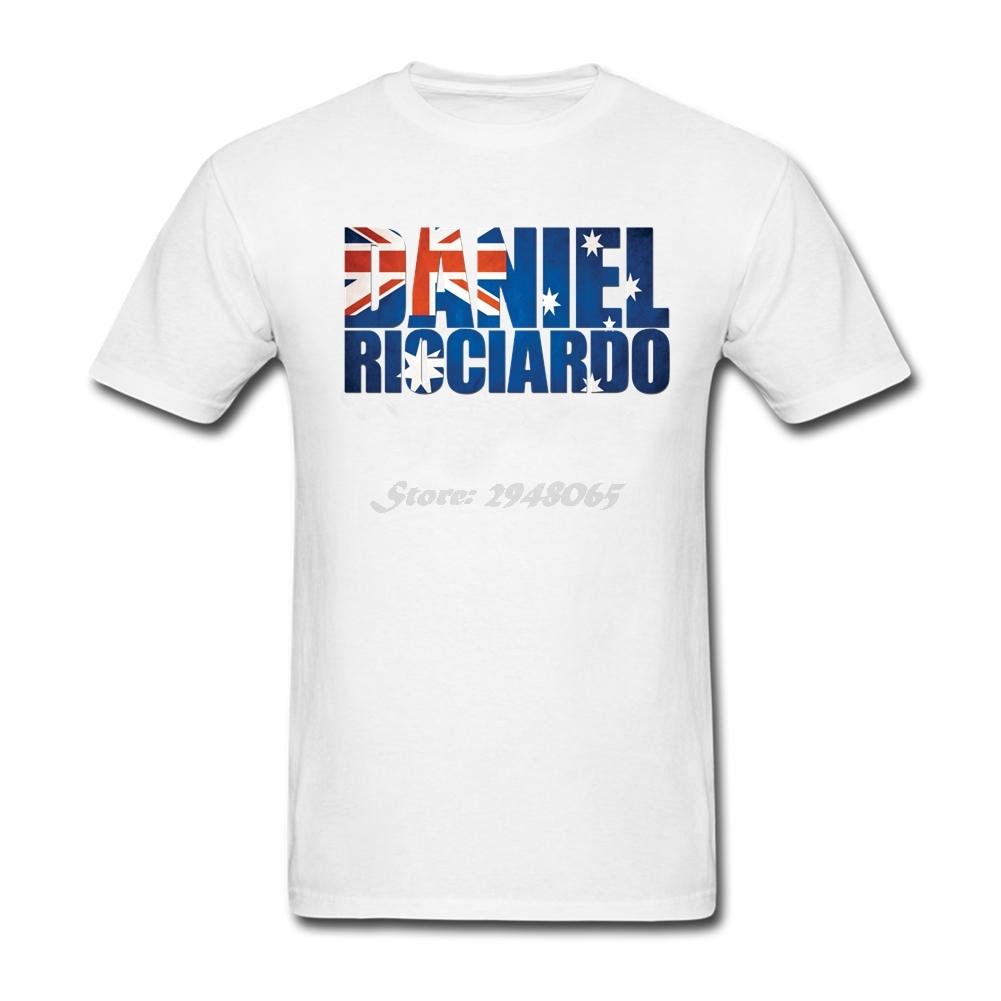 Design your own t shirt cheap australia - Daniel Ricciardo Australia Flag Formula 1 Men Personality T Shirt Pink Punk Clothing