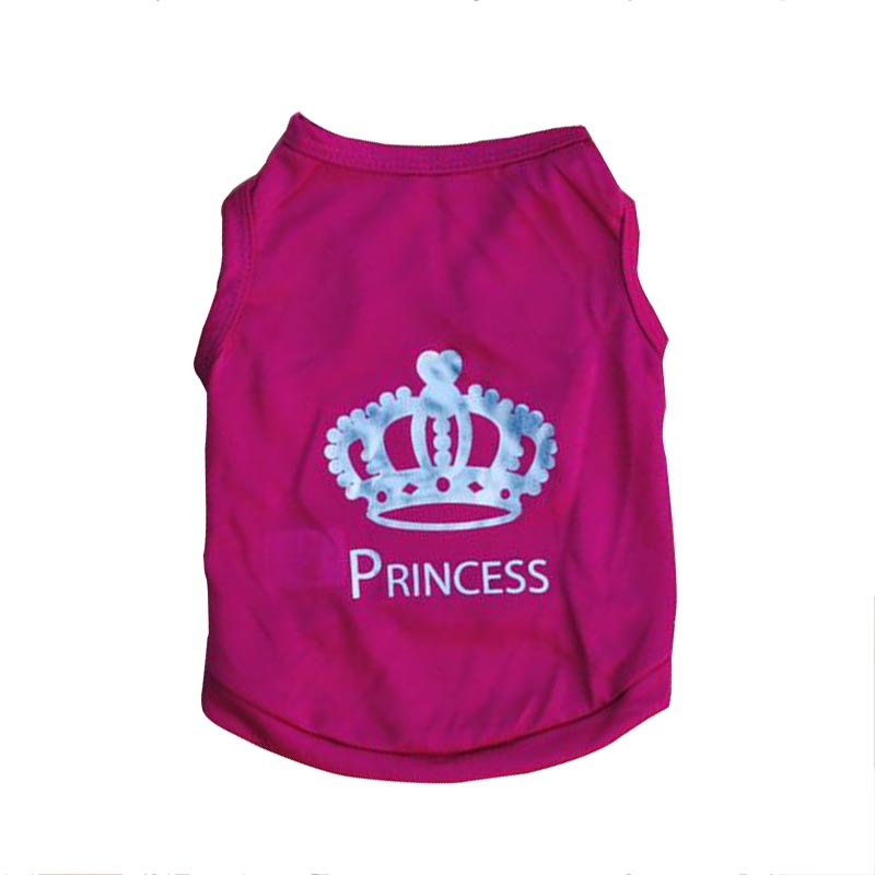Hot Sale Rose Pet Dog Clothes Crown Pattern Puppy Clothing Coat Hooded Cotton T Shirt Dog Clothes High Quality(China (Mainland))