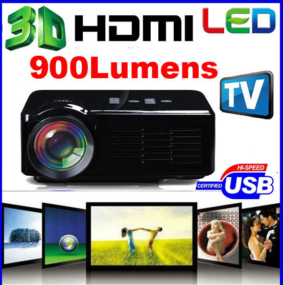 Newest 2015 BL-35 900Lumens LCD LED HD Video 3D Home Theater Mini TV Projector Proyector Beamer Projetor factory wholesale(China (Mainland))