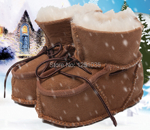 100% Australian sheep fur baby snow boots 0 and 1 year old baby boys and girls soft bottom anti-slip toddler shoes in winter(China (Mainland))