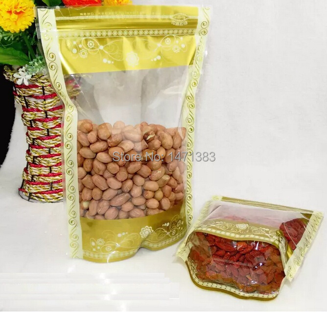 Size 14*20+4 CM Food packaging ziplock packing bag, Standup coffee pouch(China (Mainland))