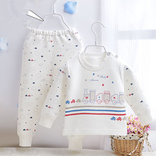 Cotton cotton baby boys and girls baby warm cotton underwear suit Jia Sijia(China (Mainland))