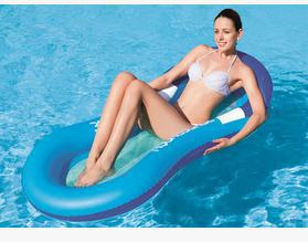 Water Air Cushion Bed Water Inflatable Water Lounger Mat Floating Swimming Pool Mat with Headrest floating Row Chaise Lounge(China (Mainland))