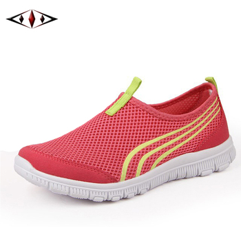 2016 New Women Light Sneakers Summer Breathable Mesh Female Running Shoes LadyTrainers Walking Outdoor Sport Comfortable fb001-1