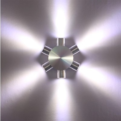 Aluminum Wall Sconce, 6W Modern LED Wall Lamp With 6 Lights Fixtures Scattering Light For Home Lighting<br><br>Aliexpress