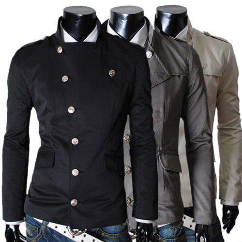 jacket men designer clothes new 2014 long sleeve outdoor casual mens