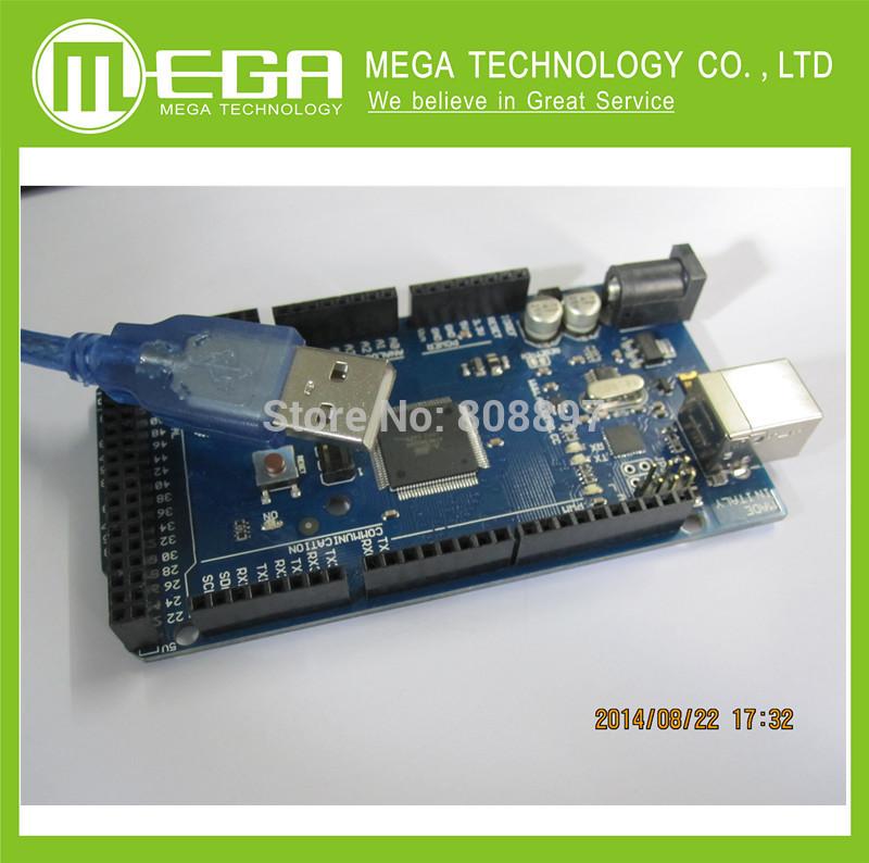10set Freeshipping Mega 2560 R3 Mega2560 REV3 ATmega2560-16AU Board + USB Cable compatible good quality low price(China (Mainland))