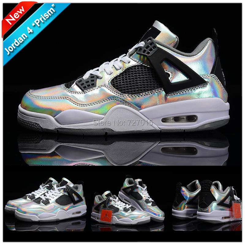 Rainbow Jordans Metallic Basketball Shoes
