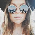 Vintage Brand Design Round Women Sunglasses Brand Designer 2016 Retro Mirror Sun Glasses For Female Lady