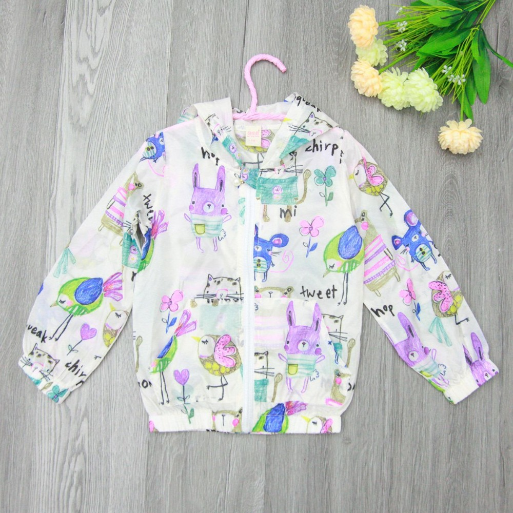 Retail next new baby font b girls b font cartoon outerwear coats kids jeacket Graffiti animal