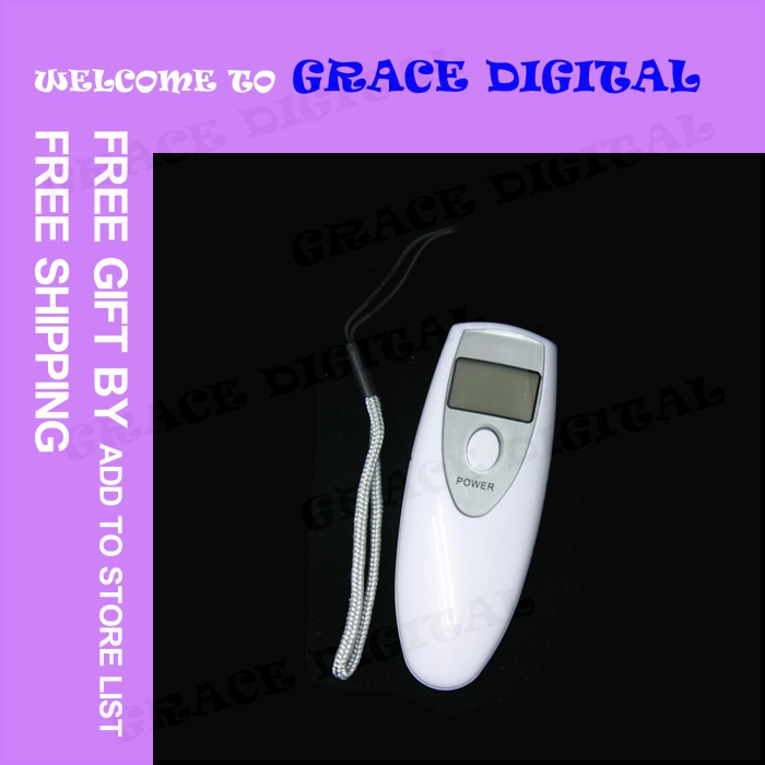 COMPETITIVE PRICE 20PCS/LOT Professional Police Portable Digital Alcohol Analyzer Breathalyzer Tester #BQT127(China (Mainland))