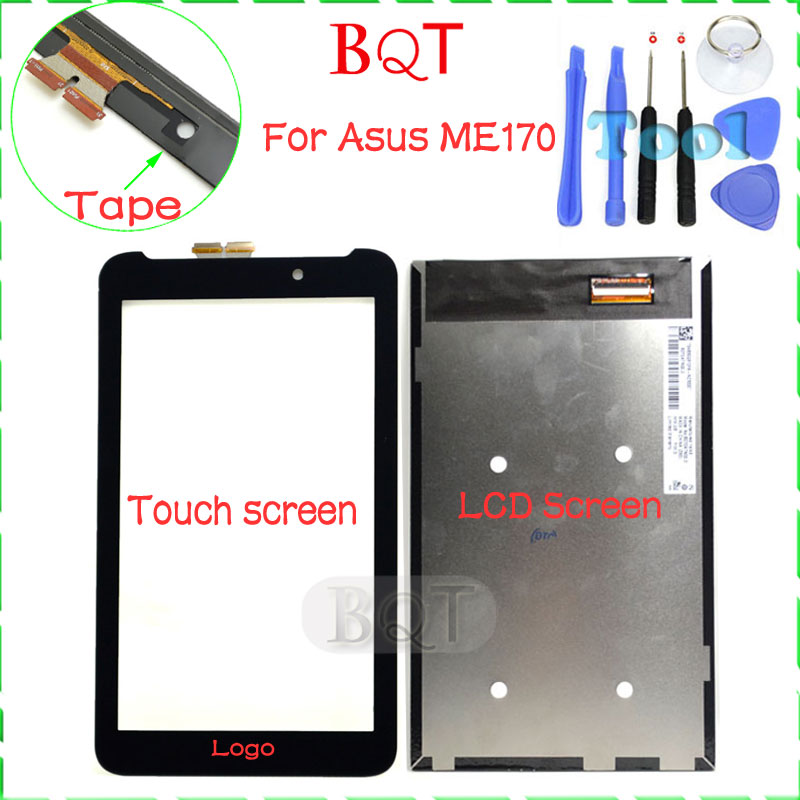 100% Test ME170 LCD For ASUS Fonepad 7 FE170CG ME170C ME170 K012 LCD Screen With Touch Screen Digitizer High Quality(China (Mainland))