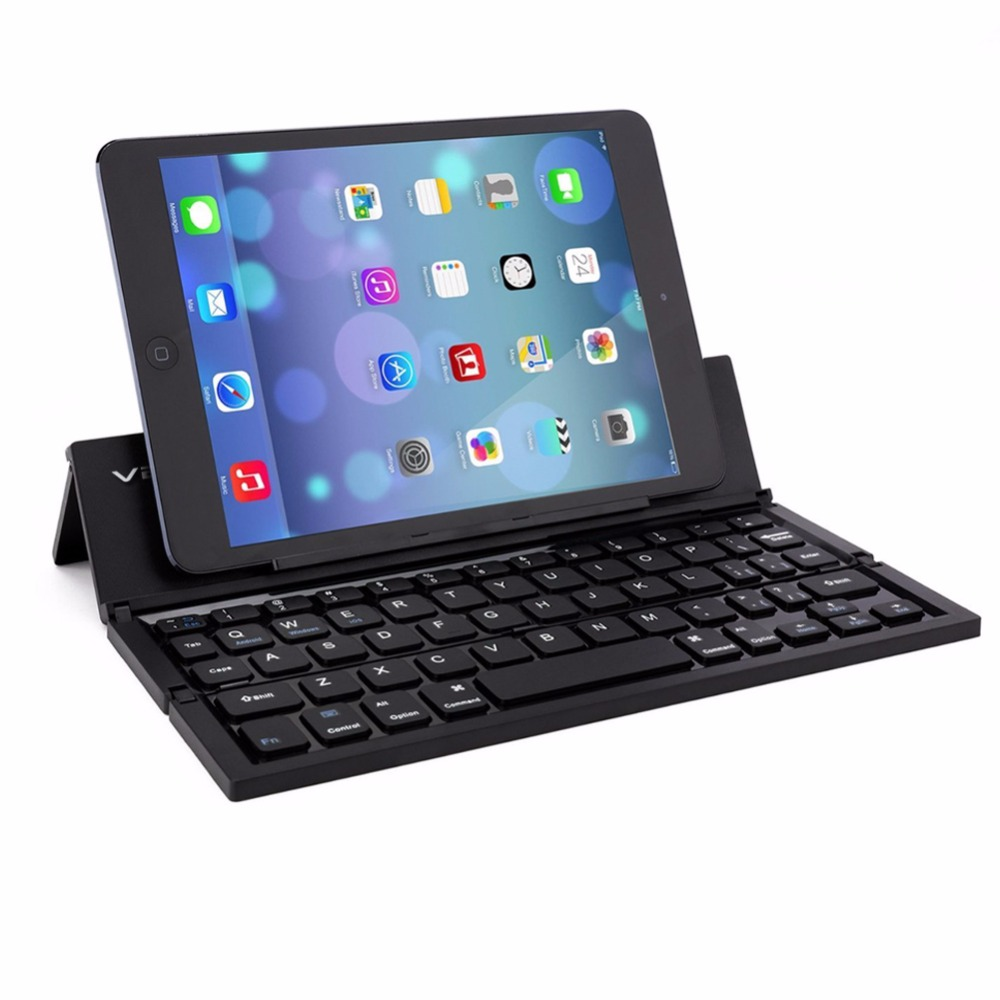 2016 hot sale Portable Foldable Wireless Bluetooth Keyboard with Kickstand ForIOS Andriod PC gaming mini tablet laptop keyboard(China (Mainland))