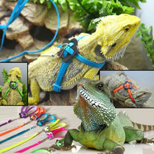 Adjustable Training Walk bird parrot Leash Running Cable Nylon Traction Rope Harness Reptile Lizard Harness Leash Multicolor(China (Mainland))