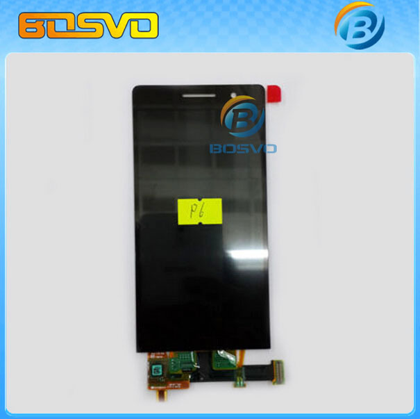 Original replacement for Huawei Ascend P6 LCD display with touch screen digitizer with frame assembly one piece free shipping