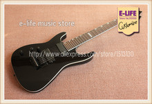 China Custom Shop Left Hand Body ESP Guitar 7 Strings Black Floyd Tremolo In Stock(China (Mainland))