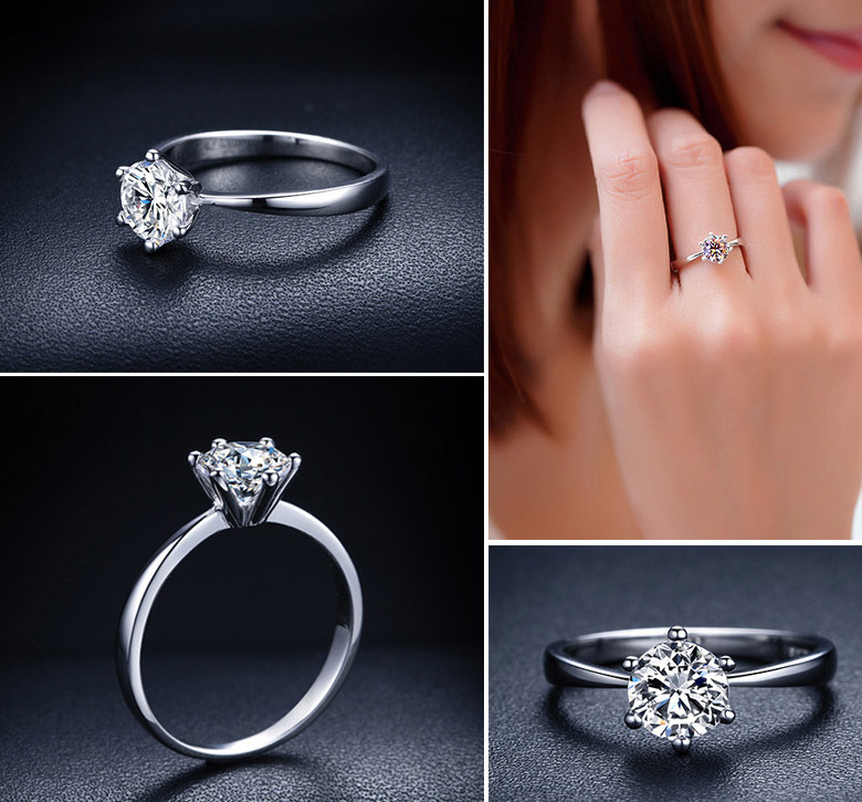 2015 Hot wedding Rings for women Anel 925 sterling silver Jewelry Engagement rings Aneis anillos(China (Mainland))