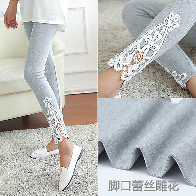 New Fashion Womens Lace Crochet Sexy Skinny Leggings Stretch Jeggings Pants(China (Mainland))