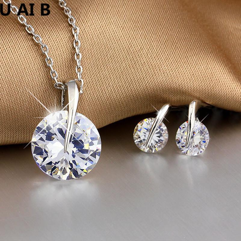 Korean personality exquisite large rhinestone necklace earring set wedding accessories bride jewelry set vestido de formatura(China (Mainland))