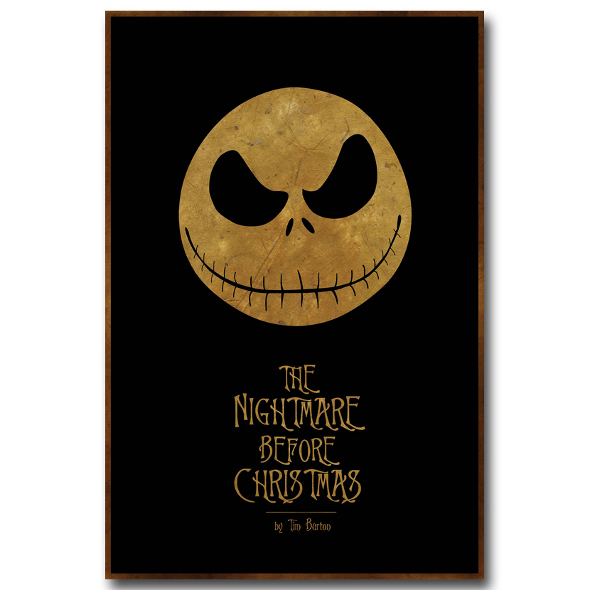 The nightmare before christmas Art Silk Poster Canvas Print 13x20 24x36inch Movie Picture for Home Decor 010(China (Mainland))