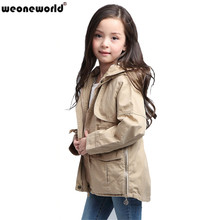 Buy WEONEWORLD 2017 Fashion Children's Girls Clothes Autumn Winter Girls Trench Coat Jacket Hoodies Children Jacket Coat Outwear for $17.99 in AliExpress store