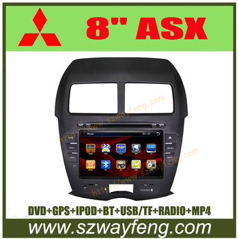 "Promotion! 8"" MITSUBISHI ASX Auto DVD Navigation with GPS, Canbus, BT, IPOD, TV, Radio, USB/SD+Free map with 4G Card"