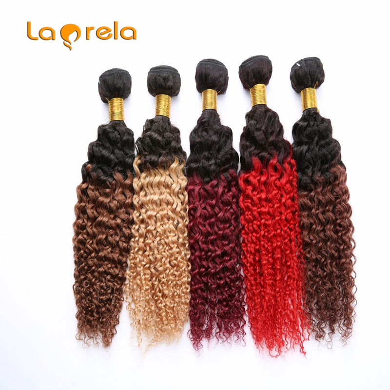 6A Curly Brazilian Hair Kinky Curly Weave Human Hair 4 Bundles 2 Tone Color Brazilian Curly Hair Weave Bundle Hair Extensions<br><br>Aliexpress