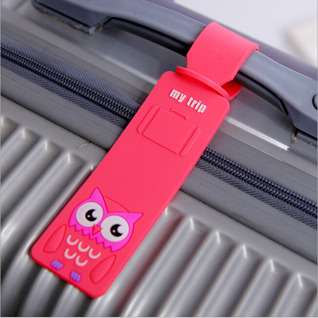 1 Piece Travel Accessories Cute Cartoon Silicone Luggage Tag Suitcase Backpack Airplane Plane Fashion New(China (Mainland))