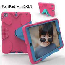 For iPad Mini/iPad Mini 2/iPad Mini 3 Case EVA Heavy Duty Shockproof Hybrid Rubber Rugged Hard Protective Skin Cover Case(China (Mainland))