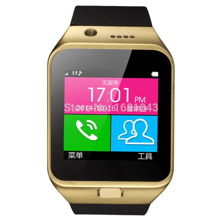 2015 New Smart Watch GV09 With Camera Bluetooth WristWatch SIM Card Smartwatch For Ios ,Android Phones Support Multi languages<br><br>Aliexpress