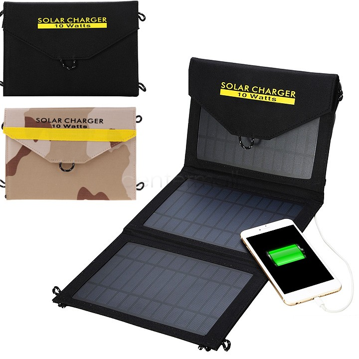 Foldable Solar Charger 10w Outdoor Portable Solar Panel Charger Usb Battery Charging For Phone Power Bank For Phone US50(China (Mainland))