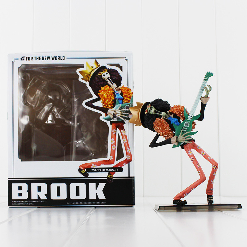 Japanese Anime Cartoon Two Years Later One Piece Action Figures PVC Tos Doll Model Collection Brook High Quality 18cm(China (Mainland))