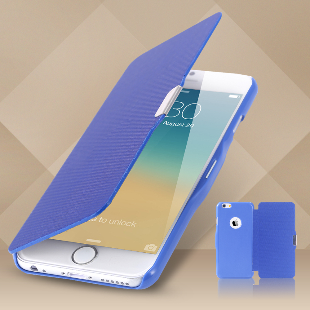 Super Thin!! Magnetic PU Leather Ultra Flip Case for iphone 6 4.7 Full Body Protect Book Style Cover for Apple 6 Wallet Pouch(China (Mainland))