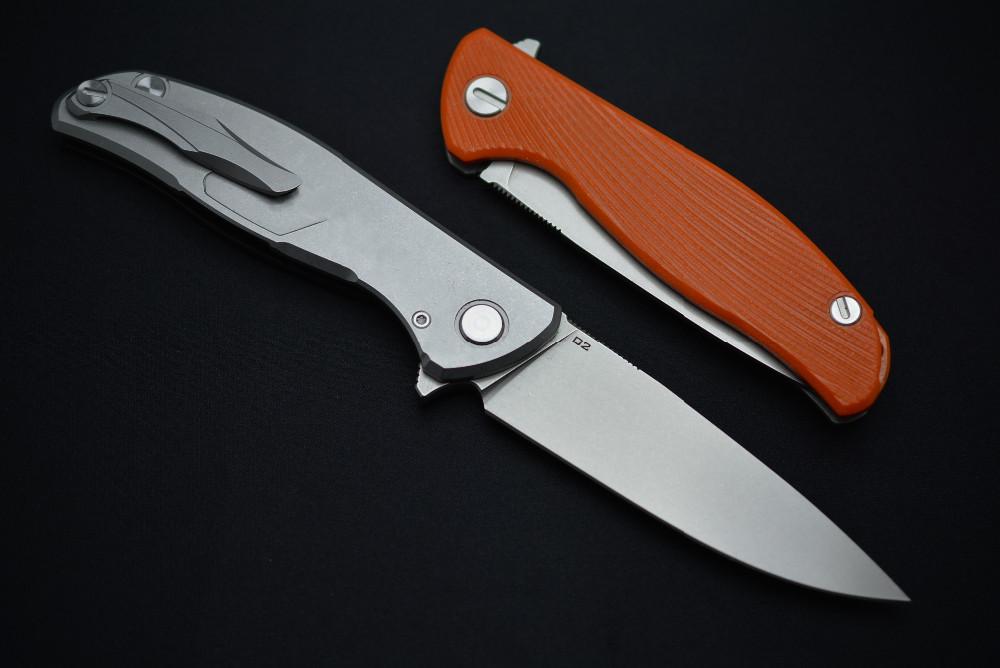 Yeşil diken 95 rulmanlar katlanır bıçak D2 blade turuncu siyah G10 kolu kamp avcılık açık aracı