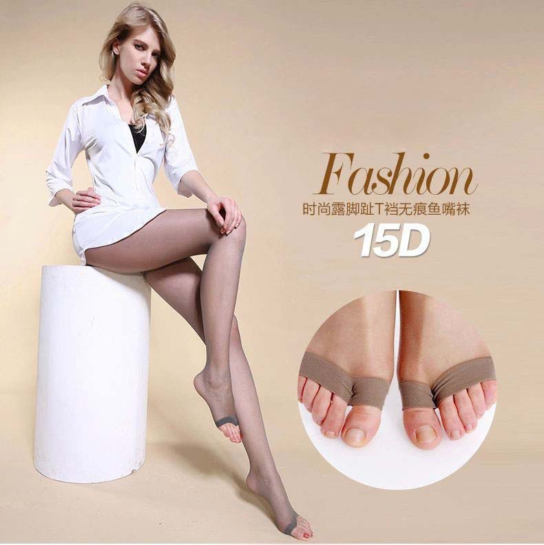 Open Toe Pantyhose Sexy Women's Tights Stockings 4Color Fashion Female Transparent Tight For Girls(China (Mainland))