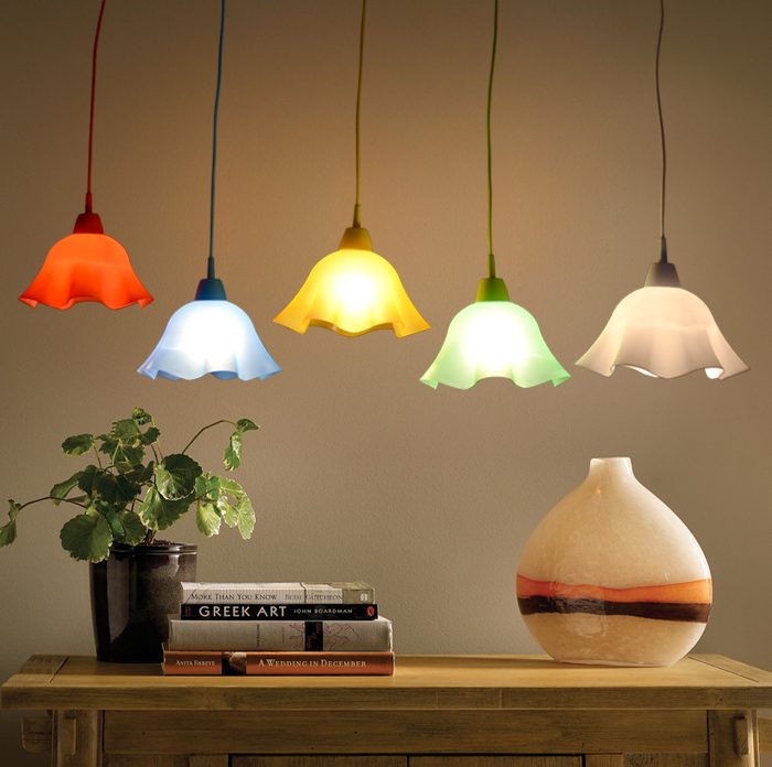 Candy Color Muuto Denmark Style Diy Hanging Lamp Pendant Light Suspension Lamp Modern Plastic Pendant Lamp E27