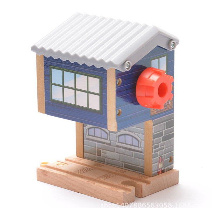 Christmas Gift BLUE Thomas Snowhouse Railway Pack fit Thomas and Brio Wooden Train Educational Boy/ Kids Toy 02(China (Mainland))